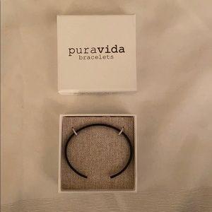 Puravida Black Cuff Bracelet